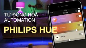 đèn tự động bật với Philips Hue Automation